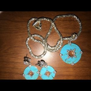Judith Ripka Necklace with matching earrings